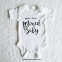 Rompertje MAMA+PAPA=MIXED BABY achter