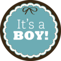 1 vel met 24 sluitstickers - It's a boy!