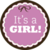 1 vel met 24 sluitstickers - It's a girl!